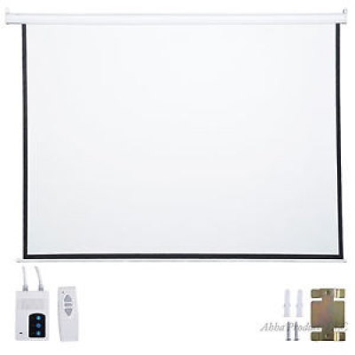 Wall Mount Remote Control Projector Screen (3m)